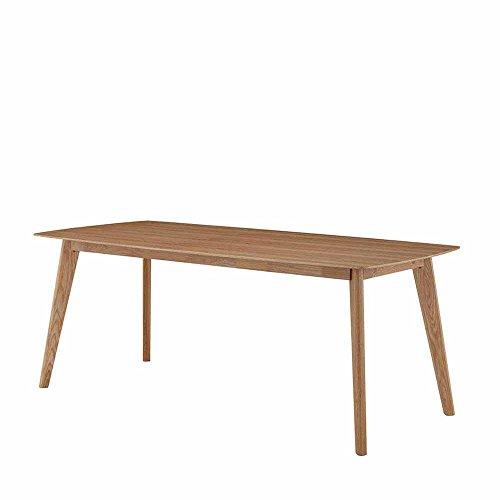 Pharao24 Essgruppe aus Eiche Grau Webstoff Tisch ausziehbar Ausführung 2