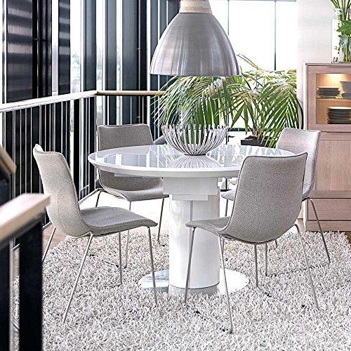 Pharao24 Esszimmergruppe mit Rundem ausziehbarem Tisch Modern