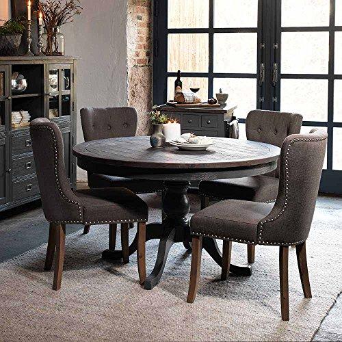 Pharao24 Esstischgruppe mit Rundem Tisch Landhaus