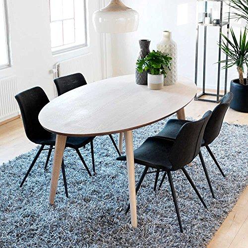 Pharao24 Esszimmergruppe mit ovalem Tisch modern