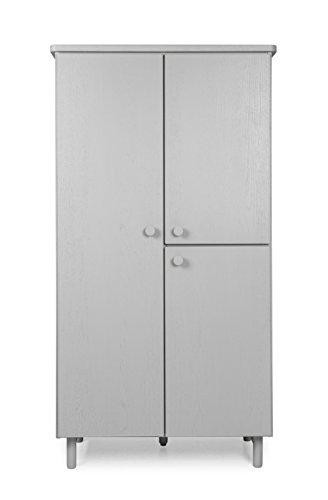 Tenzo 4002-912 Grain Designer Hochschrank Holz, grau gebeizt, 46,5 x 94 x 177 cm