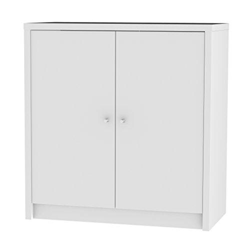 tenzo 1882-001 Box Schrank, Spanplatte, weiß, 35 x 73 x 77 cm