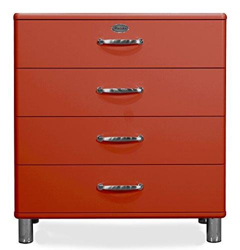 tenzo 5124-028 Malibu Designer Kommode, MDF lackiert, 92 x 86 x 41 cm, rot